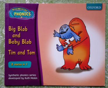 Read Write Inc. Phonics Set 2 Book 2: Big Blob and Baby Blob. Tim and Tom